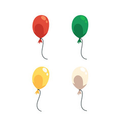 Colorful cartoon balloon set isolated on white vector