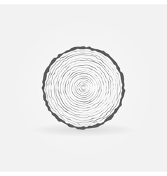 Cut tree trunk icon vector