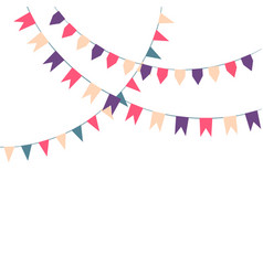 cute festive colorful flags vector image