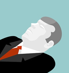 Deceased isolated of dead man in suit dead busine vector