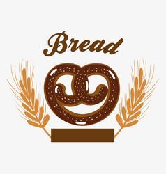 Delicious pretzel bread of wheat vector