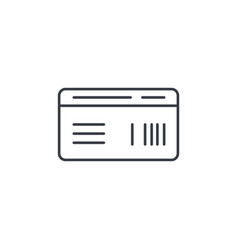 Document whith barcode plane or train ticket thin vector