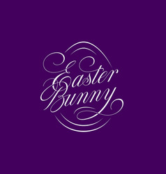 easter bunny lettering vector image