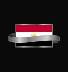 egypt flag ribbon banner design vector image
