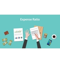 Expense ratio with paperworks vector