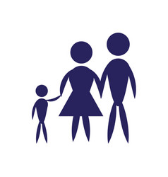 Family father mother and son pictogram vector