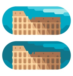 Flat design Colloseum arena vector