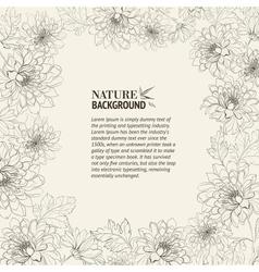 Frame chrysanthemum vector