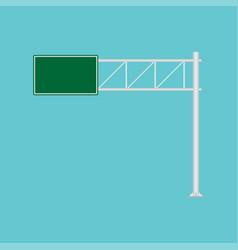 Freeway road sign green direction way icon urban vector
