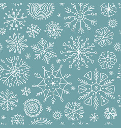 hand drawn snowflakes seamless pattern for your vector image