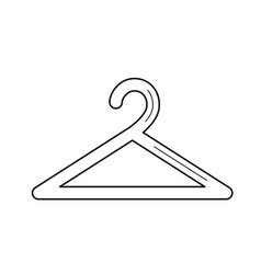 Hanger for clothes line icon vector