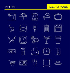 Hotel hand drawn icon for web print and mobile vector