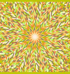 Hypnotic geometrical dynamic circular pattern vector