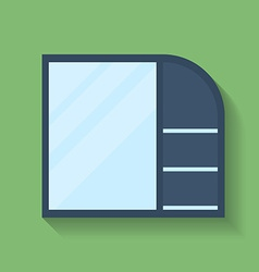 Icon of Cabinet Flat style vector