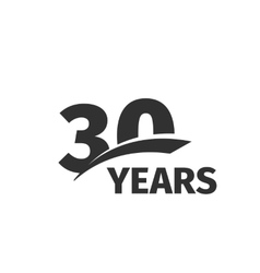 Isolated abstract black 30th anniversary logo on vector