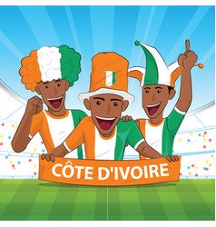 Ivory coast football support vector