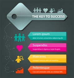 key to success concept background template vector image