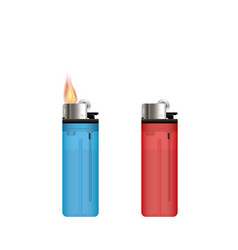 lighter on a white background vector image