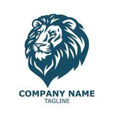 Lion head logo sports mascot vector
