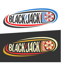 logo for blackjack vector image