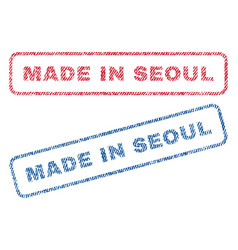 Made in seoul textile stamps vector