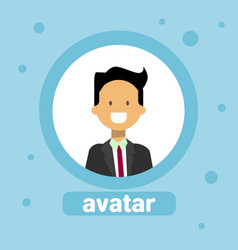 male avatar business man profile icon element user vector image