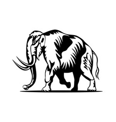 Mammoth Side View vector