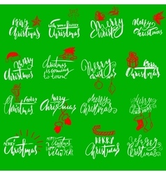 Merry christmas handwritten lettering typographic vector