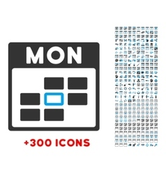 Monday Flat Icon vector image
