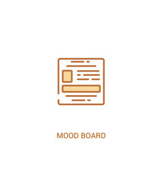 Mood board concept 2 colored icon simple line vector