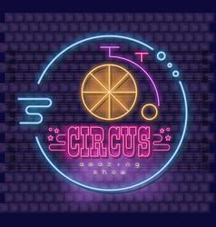 neon circus emblem vector image