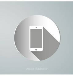 paper phone icon vector image