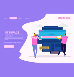 people and interfaces web page vector image