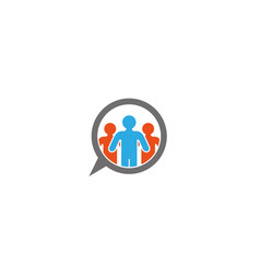 people community chatting icon logo design vector image
