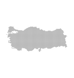 pixel map of turkey dotted map of turkey isolated vector image