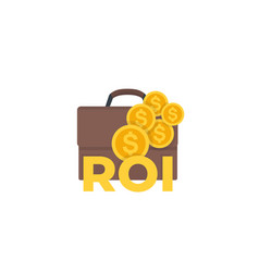 Roi return on investment icon vector
