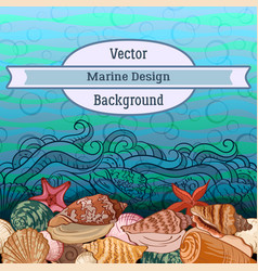 Sea exotic pattern vector