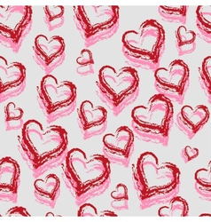 Seamless Red Hearts vector image