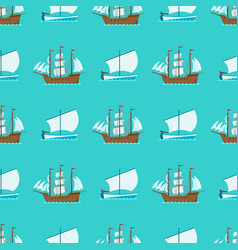 ship cruiser boat sea seamless pattern vessel vector image vector image