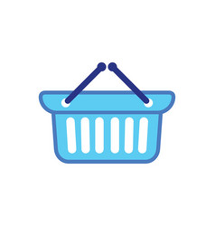 Shopping cart basket buy logo vector