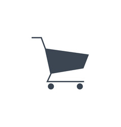 Shopping cart related glyph icon vector