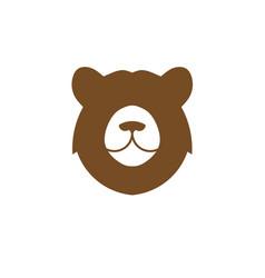 simple bear head logo vector image
