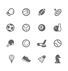 Simple Sport Equipment Icons vector