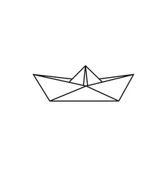 Origami paper ship royalty free vector image vectorstock sketch paper boat vector image malvernweather Images