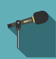 Sound recording equipment icon flat style vector