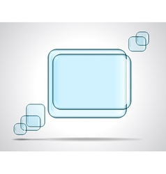 Square glass plates for text vector image