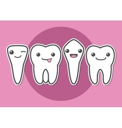 Tooth types vector