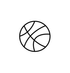 web line icon basketball black on white vector image