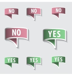 YES NO Check marks Buttons vector image