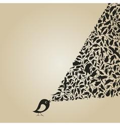 Birdie sings2 vector image